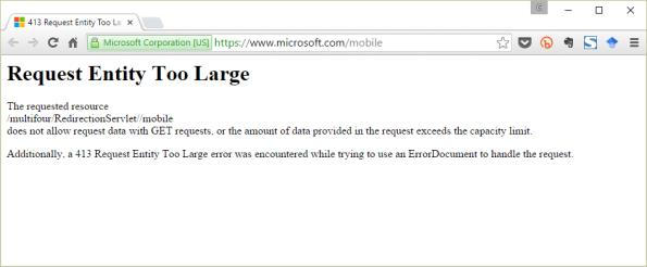 erro-entrando-MS-Mobile-website